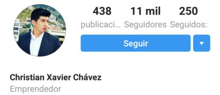 Christian Chavez Instagram