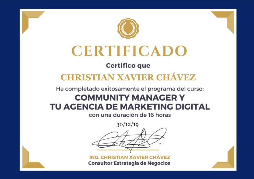 Certificado Online Community Manager