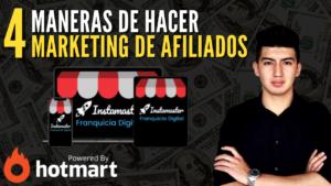Marketing de Afiliados Hotmart Franquicia Instamaster
